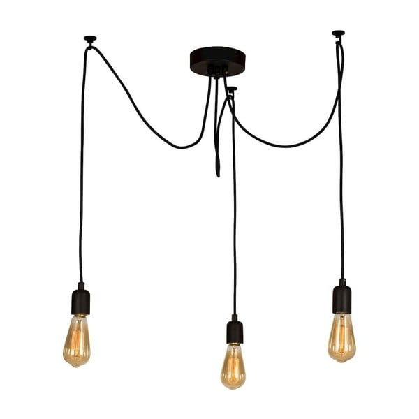 Wire Hanging Lamp Larro fekete függőlámpa, 3 izzós