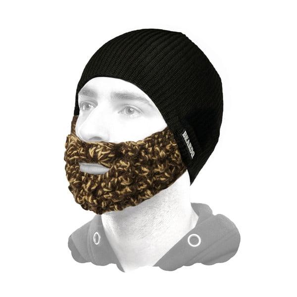 Černá čepice Beardo s barevným plnovousem