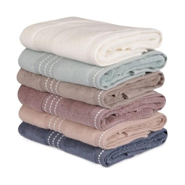 Zestaw 6 ręczników bawełnianych Micro Cotton, 50x90 cm