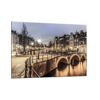 Tablou Styler Glasspik Amsterdam City, 70 x 100 cm