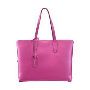 Fuchsiová kožená kabelka Maison Bag Nola
