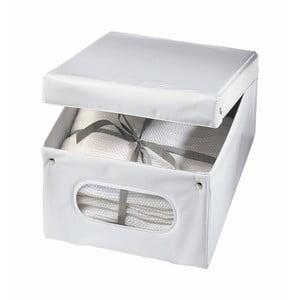 Bílý úložný box Ordinett Top Class, 40x50x25cm