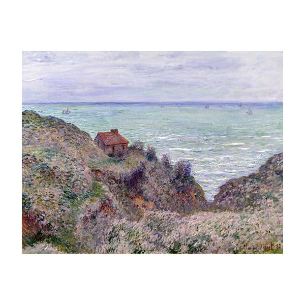 Reprodukcia obrazu Claude Monet - Cabin of the Customs Watch, 50 × 40 cm
