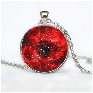 Dámský řetízek s přívěskem Butoni de Camasa Red Galaxy