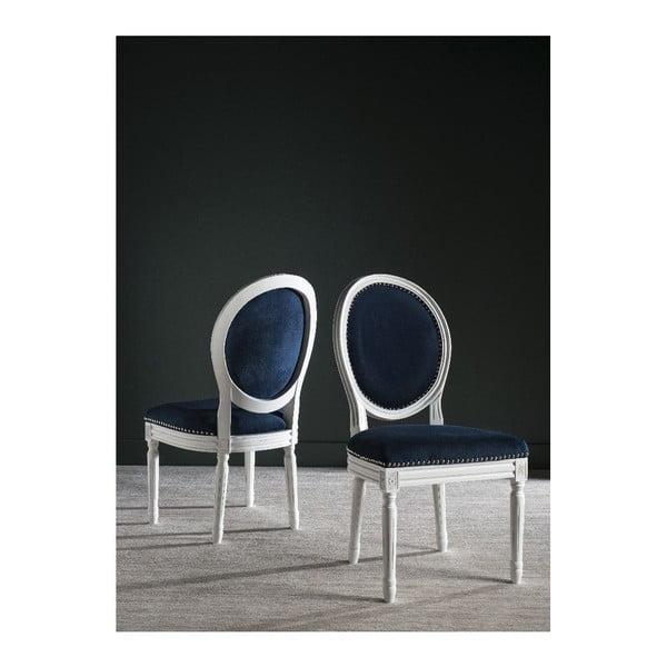 Sada 2 jídelních židlí Navy Velvet