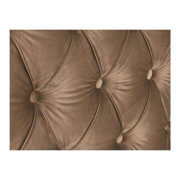 Tmavě béžové čelo postele Mazzini Sofas Anette, 160 x 120 cm