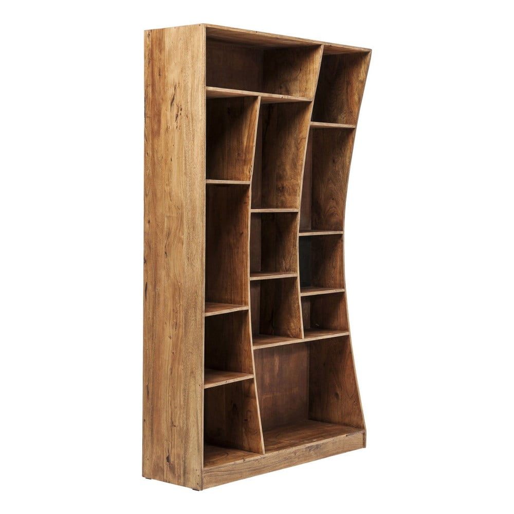 Asymetrická knihovna z akáciového dřeva Kare Design Retangollo, levá strana
