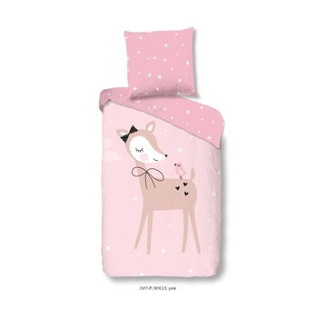 Lenjerie de pat pentru copii din bumbac pur Good Morning Dolly 140x200cm