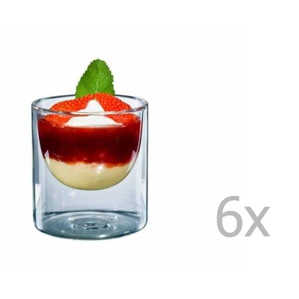 Sada 6 středních skleniček bloomix Half Moon
