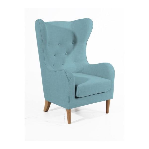 Jasnoniebieski fotel Max Winzer Miriam Linen
