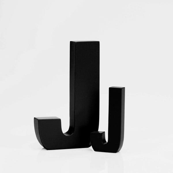 """Velké """"J"""" 13x8 cm, černá"""