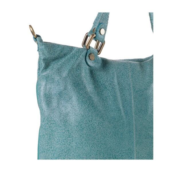 Kožená kabelka Ore Diece Affile, azurová