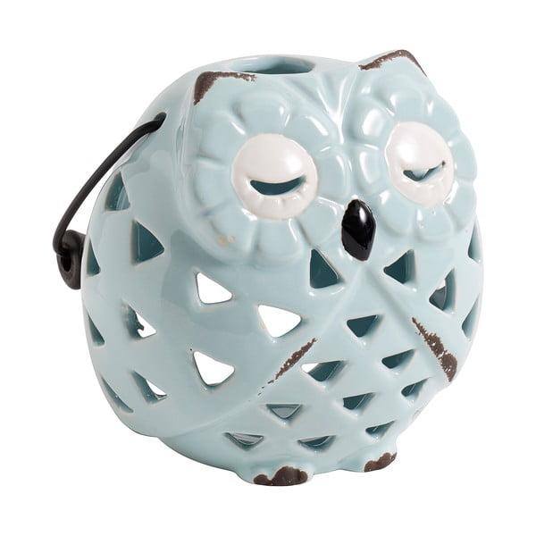 Keramický svícen Owl, blankytně modrý