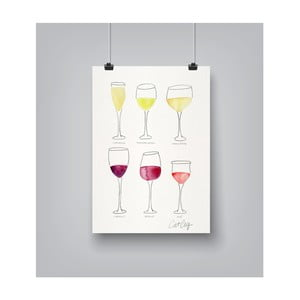 Plakát Americanflat Wine Glass Collection, 30 x 42 cm