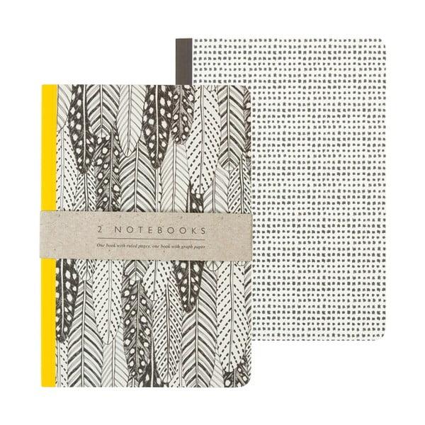 Sada 2 zápisníků A5 Portico Designs Feathers, 50stránek