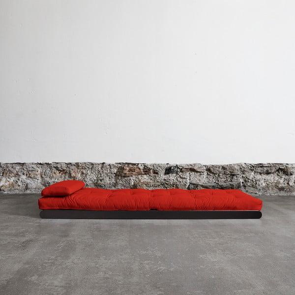 Fotoliu Karup Figo, Wenge/Red, 70 cm