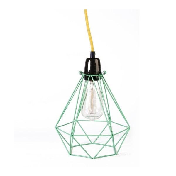 Světlo se zeleným stínítkem a žlutým kabelem Filament Style Diamond #1