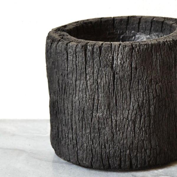 Vypálený palmový květináč Wood