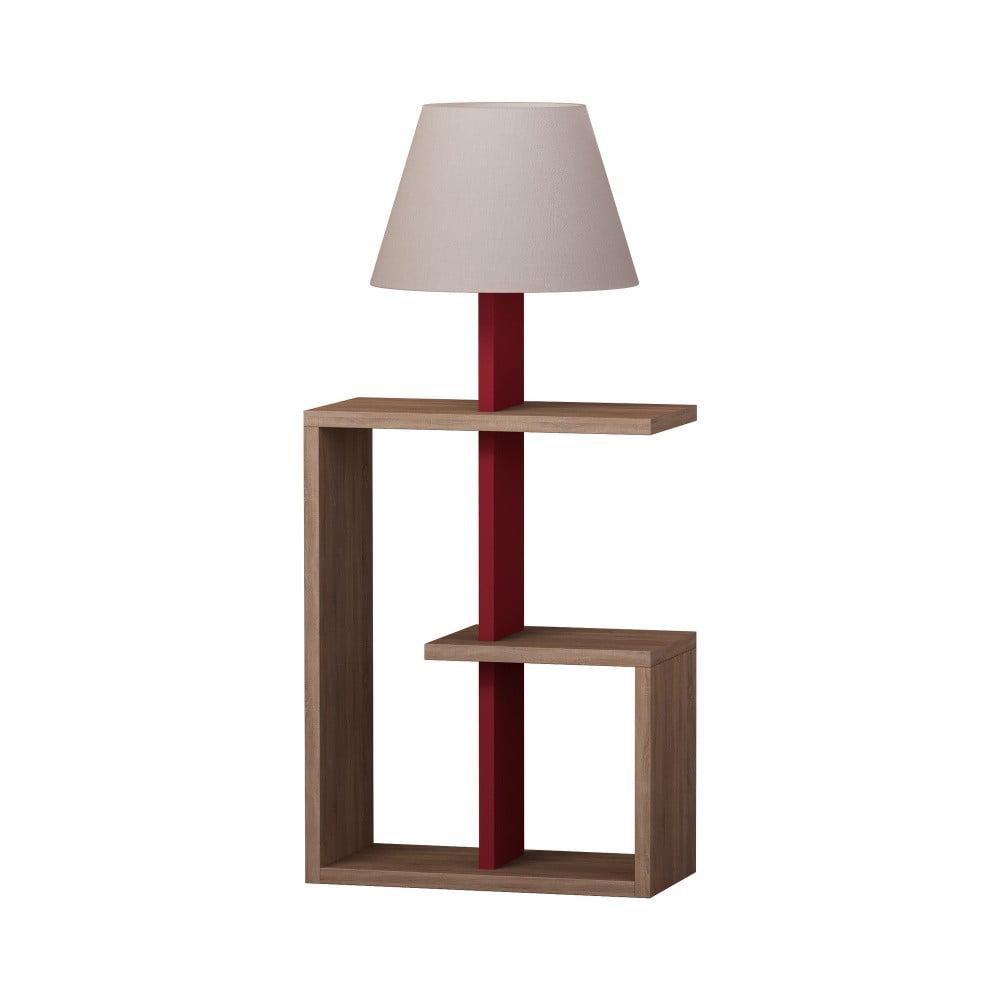Tmavě červená volně stojící lampa Homitis Saly