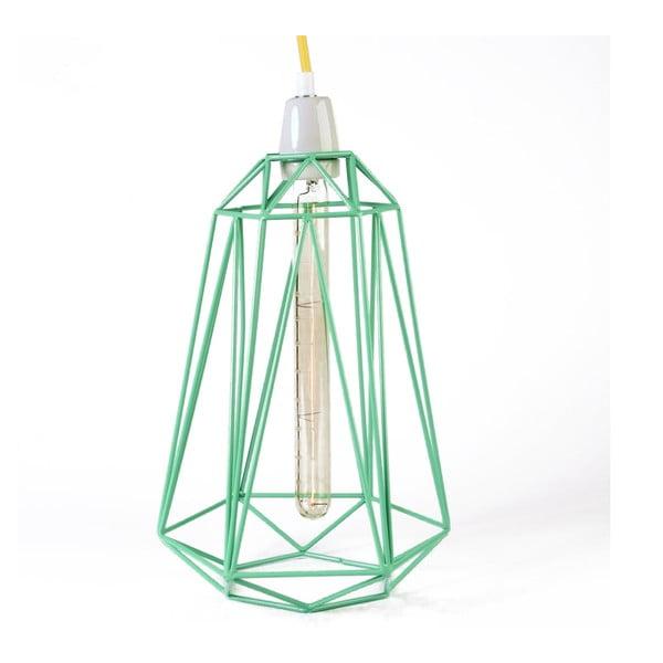 Světlo se zeleným stínítkem a žlutým kabelem Filament Style Diamond #3