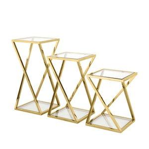 Sada 3 odkládacích stolků ve zlaté barvě Artelore Niki