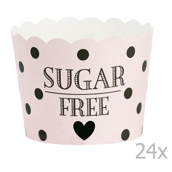 Sada 24 košíčkov na pečenie Miss Étoile Sugar Free