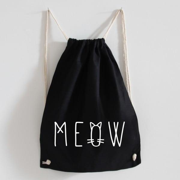 Plátěný batoh Meow Black