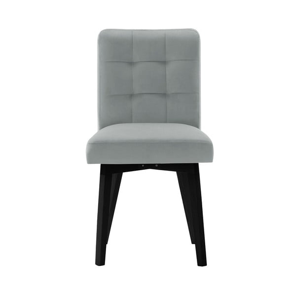 Šedá jídelní židle sčernými nohami My Pop Design Haring