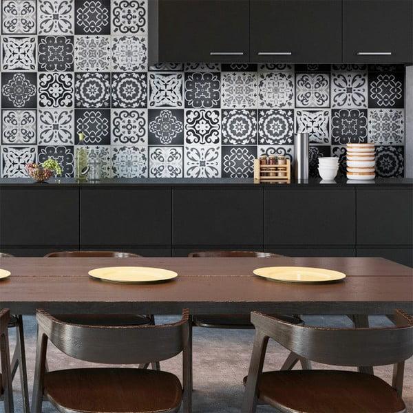Zestaw 12 naklejek ściennych Ambiance Wall Decals Tiles Gray Cement Rimini, 15x15 cm