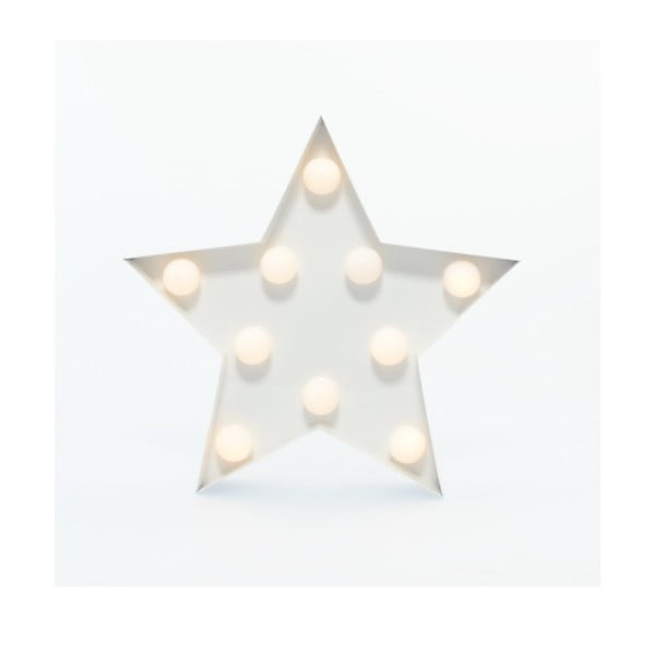 Dekorativní světlo Carnival Star, bílé