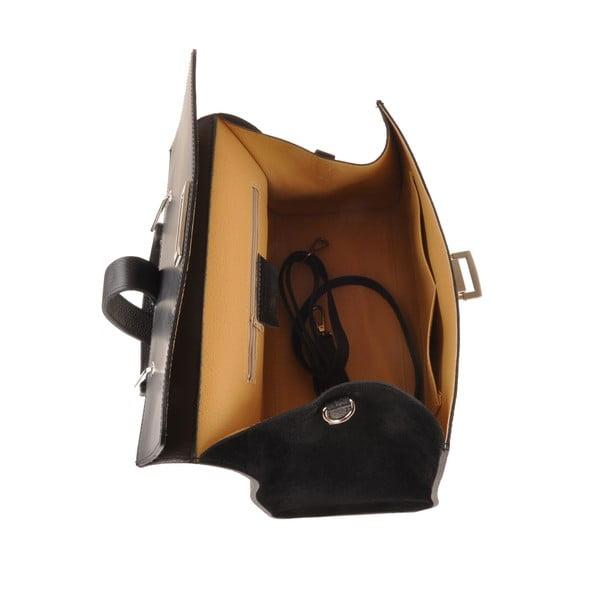 Kožená kabelka Pau, černá