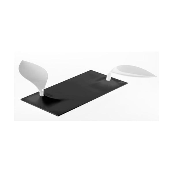 Černo-bílý servírovací tác Entity Degusto