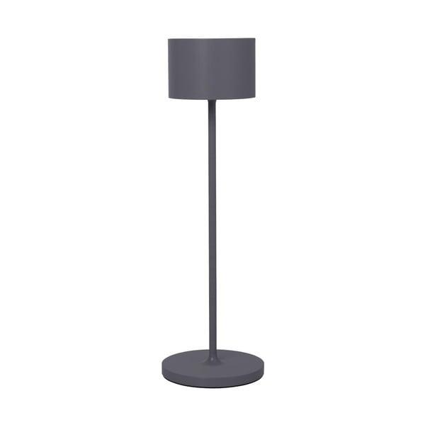 Tmavě šedá přenosná led lampa Blomus Farol