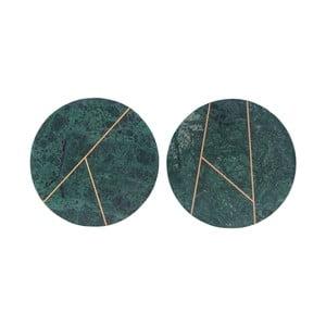 Sada 2 zelených mramorových táců House Doctor Latpe, 18 cm
