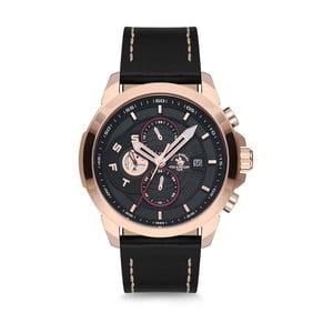 Pánské hodinky s koženým řemínkem Santa Barbara Polo & Racquet Club Asia
