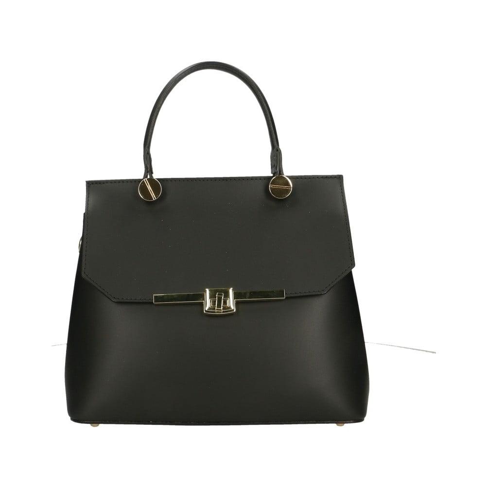 Černá kožená kabelka Roberto Buono Fiona