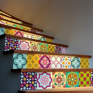 Sada 2 samolepek na schody Ambiance Stickers Stair Adamaris, 15 x 105 cm
