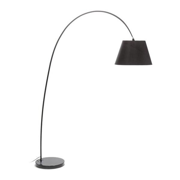 Lampa stojąca z czarnym kloszem i marmurową podstawą Tomasucci Smarty