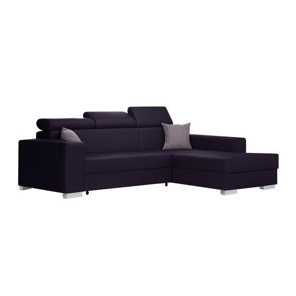 Švestkově fialová rozkládací sedačka Interieur De Famille Paris Tresor, pravý roh