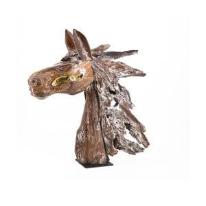 Dekorace koňské hlavy z teakového dřeva Moycor Erosi