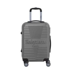 Tmavě šedý cestovní kufr na kolečkách s kódovým zámkem SINEQUANONE Rozalina, 44l