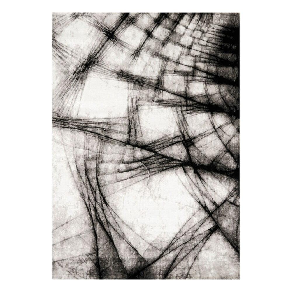 Šedo-černý koberec Webtappeti Manhattan Broadway,80x150cm