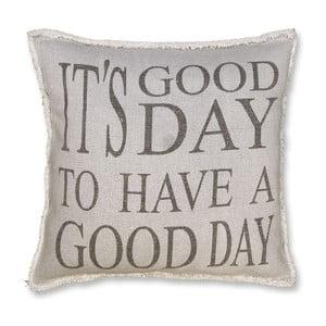 Polštář Good Day 45x45 cm, šedý