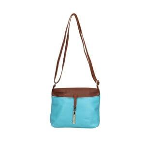 Světle modrá kožená kabelka Roberto Buono Meril