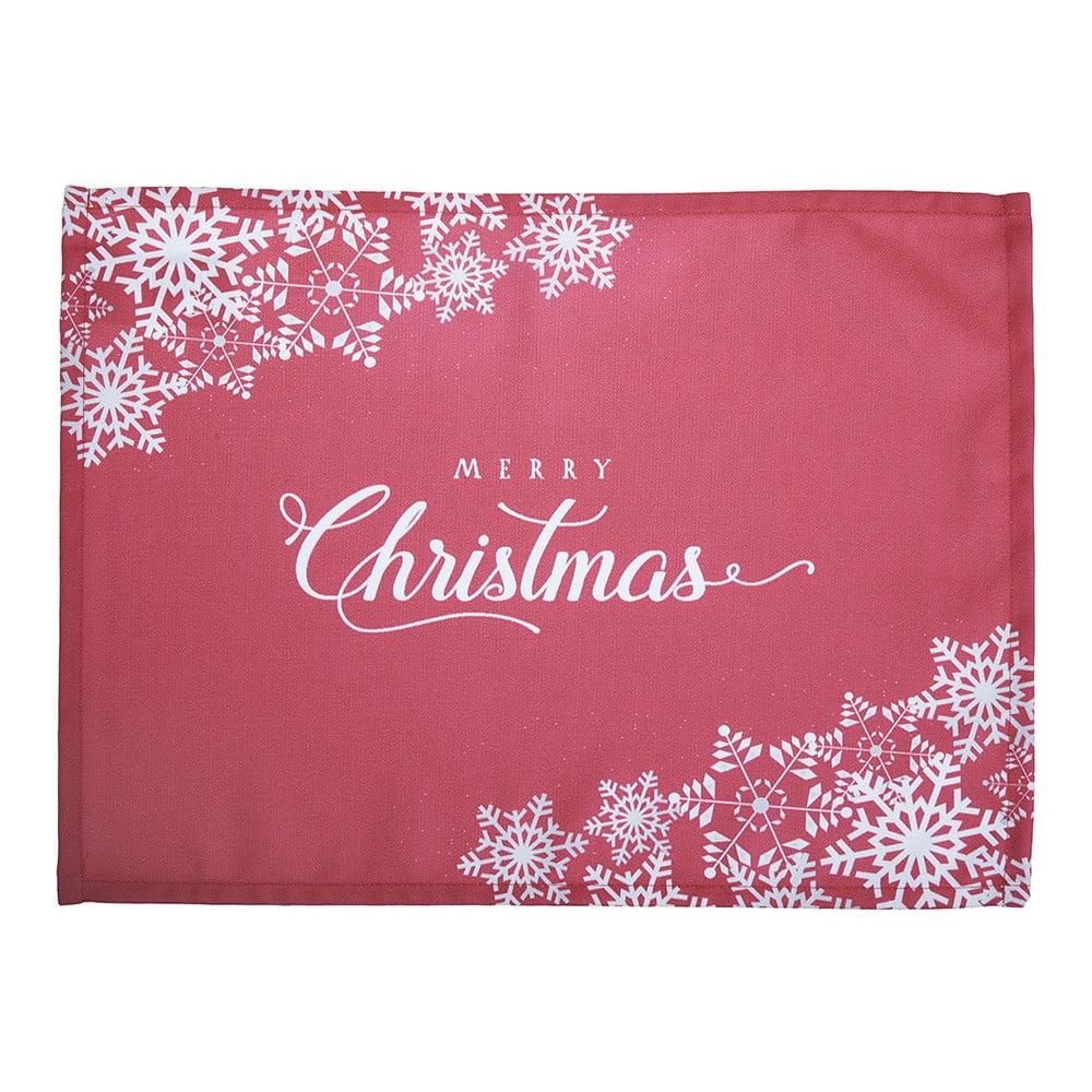 Sada 2 červených prostírání s vánočním motivem Apolena Honey Merry Christmas, 33 x 45 cm