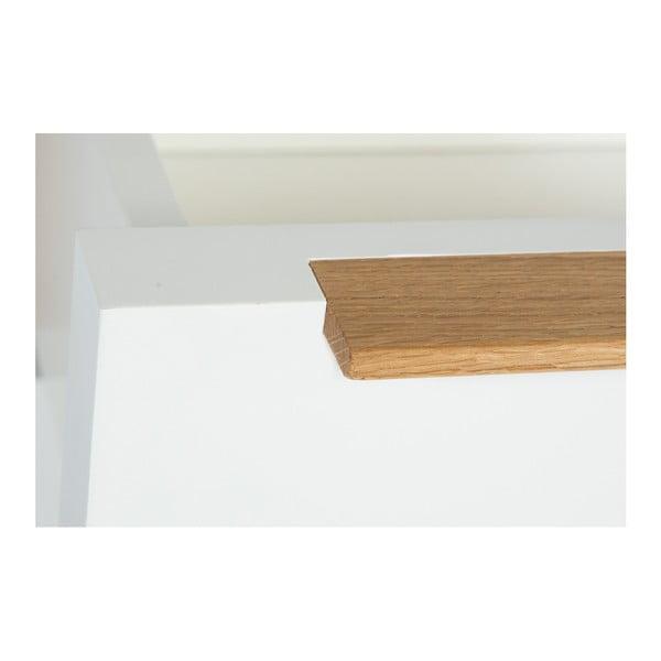Komoda z dubového dřeva se 4 zásuvkami We47 Säre, délka 80cm