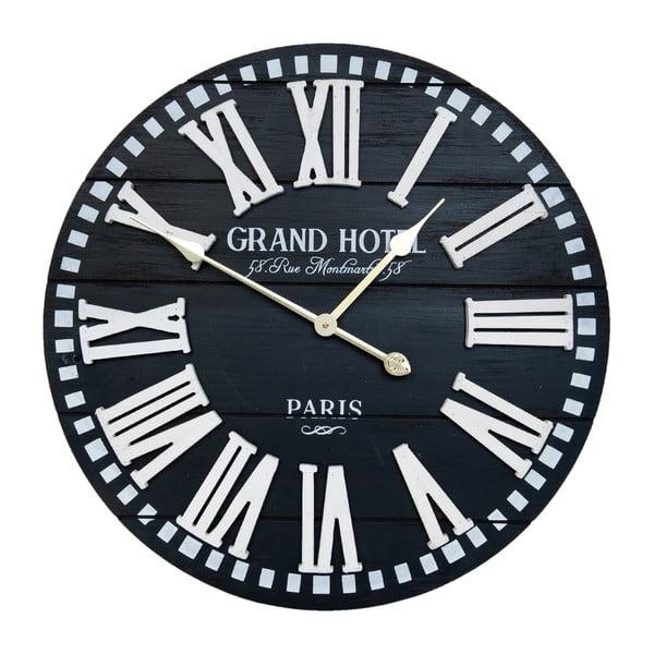 Černé nástěnné hodiny Clayre & Eef