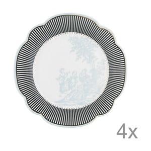 Porcelánový talíř  Toile od Lisbeth Dahl, 19 cm, 4 ks