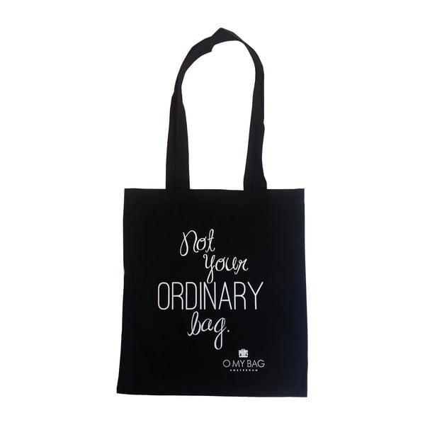Bavlněná taška O My Bag Not Ordinary, černá
