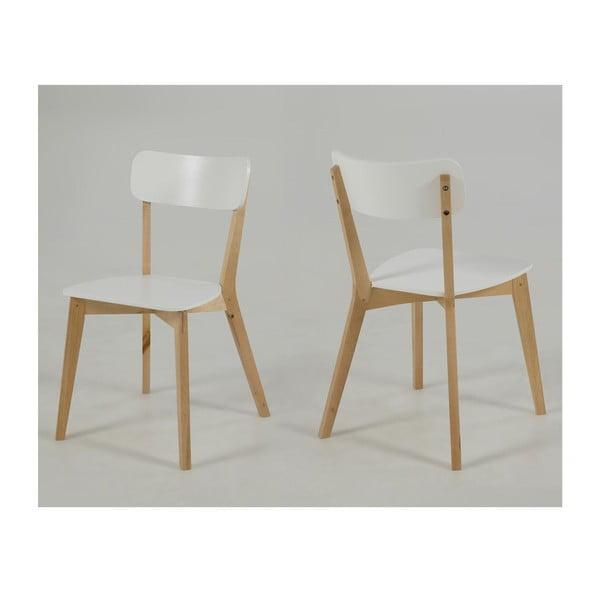 Bílá jídelní židle Actona Raven
